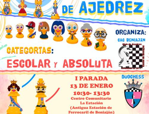 I Parada VI Circuito Intercultural Ajedrez
