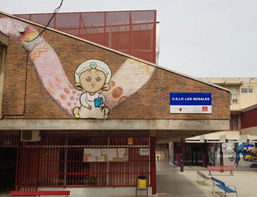 Exhibición de ajedrez en el CEIP Los Rosales de El Palmar