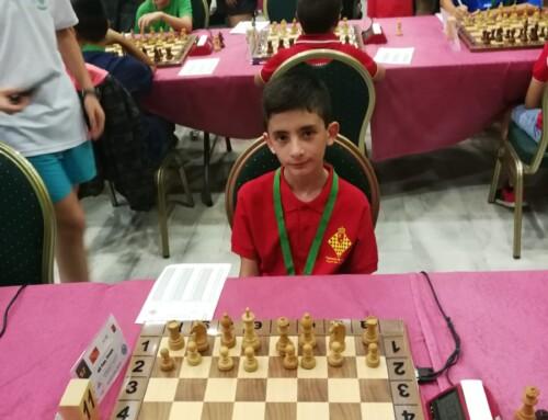 Diego en el Campeonato de España de Ajedrez Sub12