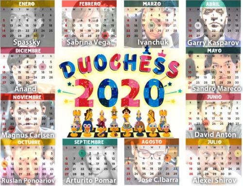 Calendario Duochess 2020